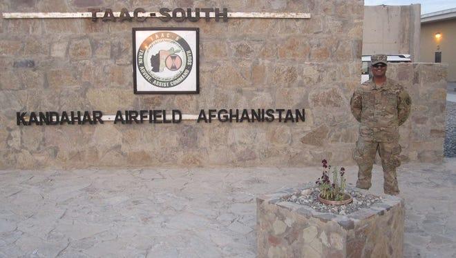 Army First Lt. Varun Hollabbi in Kandahar Airfield in Afghanistan in 2015.