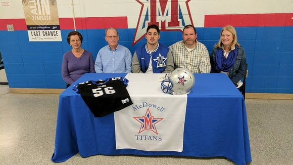 McDowell senior Damon McNeely will play college football for Mars Hill.