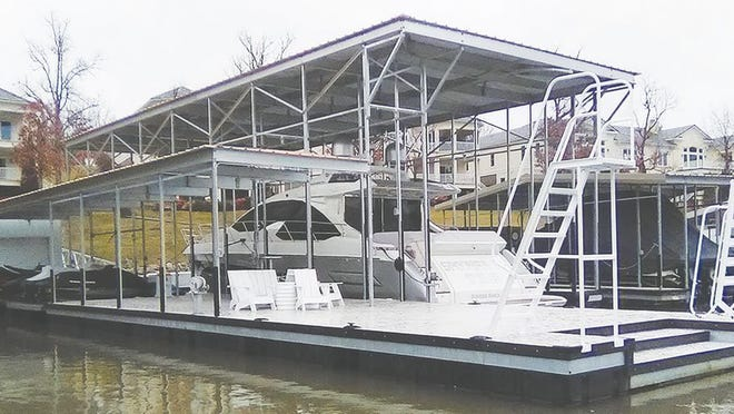 A look at an upgraded dock seen around the lake.