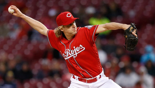 Cincinnati Reds starting pitcher Bronson Arroyo against the San Francisco Giants during the first inning.