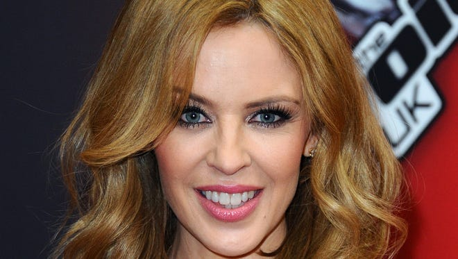"Kylie Minogue attends the red carpet launch for ""The Voice UK"" at BBC   in London."