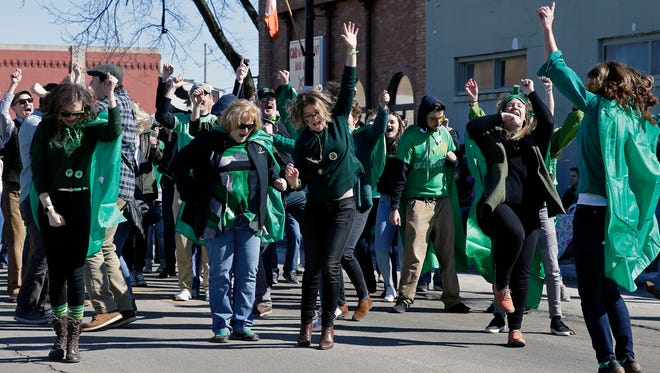 The St. Patrick's Day celebration, including a parade, brought big crowds to New London on March 17.