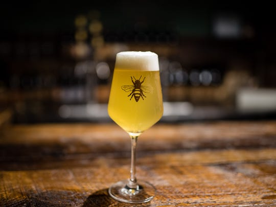 Plan Bee Farm Brewery in Poughkeepsie brews a beer called Rose Hill, a barrel-aged sour made with plums and peaches