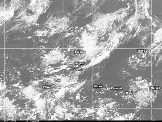 August 8, 2017 satellite weather image