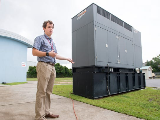 Paul Stadden discusses the generator at the Waterfront