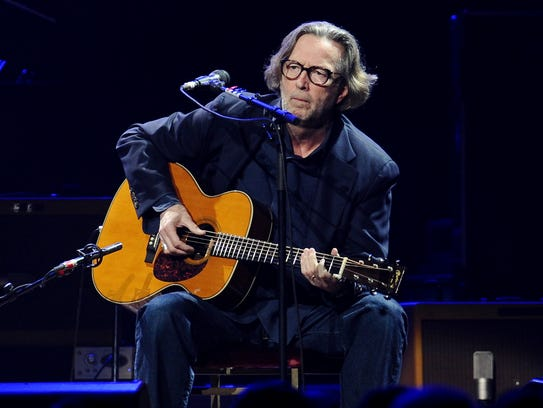 Eric Clapton performs in concert at Madison Square Garden in New York on Feb. 18, 2010.