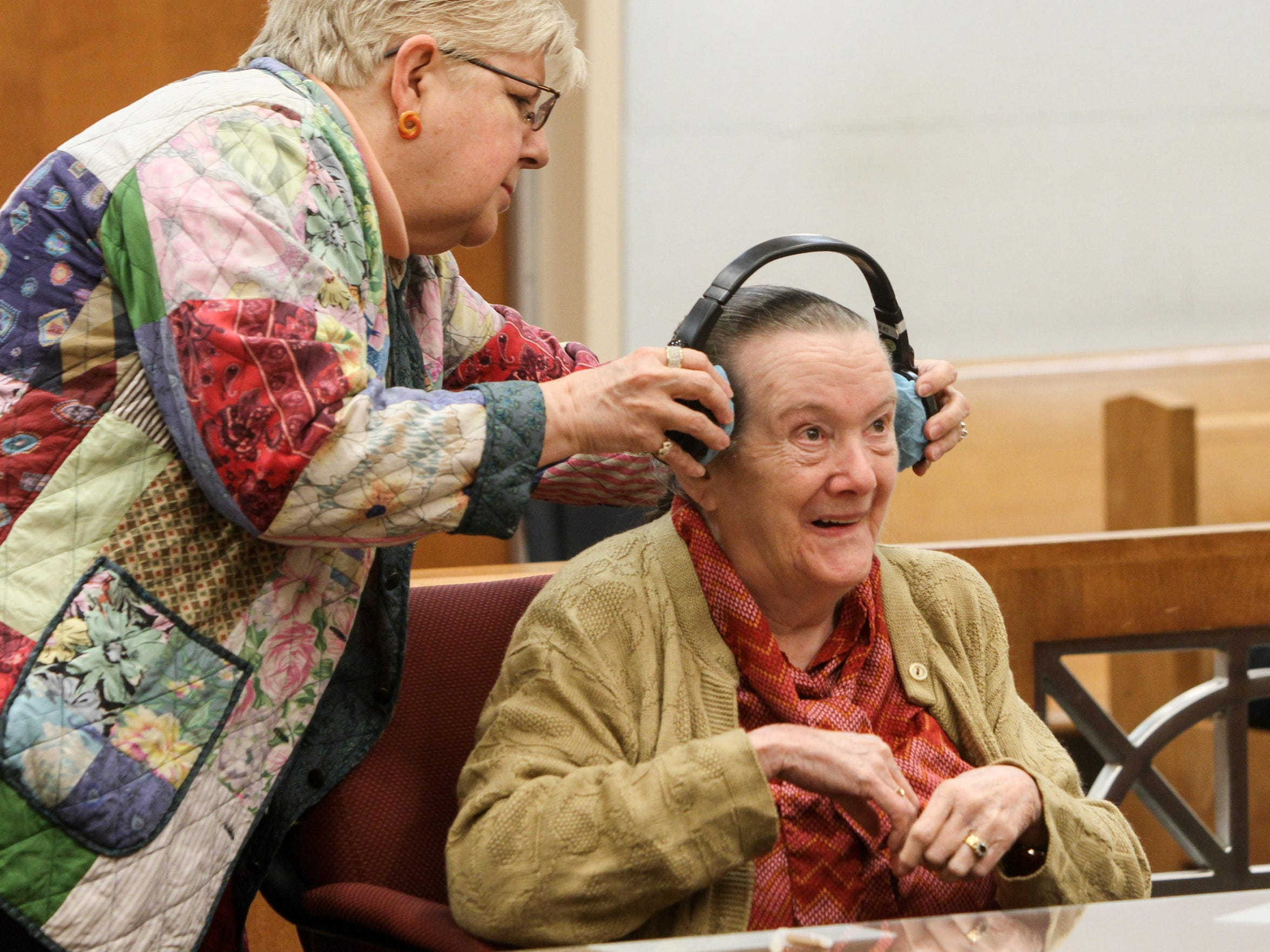 Attorney Evelyn Caterson, left,  for Helen Hugo, right,
