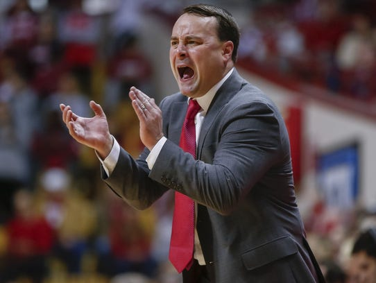Archie Miller leads his Hoosiers into this week's Big