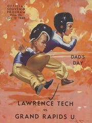 A program from a 1940 Lawrence Tech game against Grand