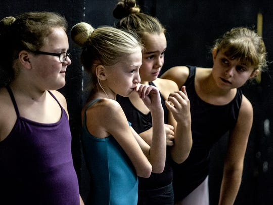 Young Central Ohio Youth Ballet dancers wait for their