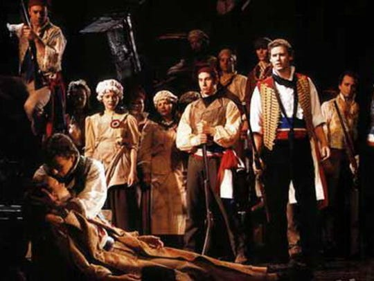 Kevin Earley played student uprising leader Enjolras
