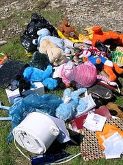 These are among the items that were illegally dumped in the Chemung River on Tuesday night.