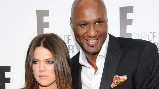 Lamar Odom and Khloe Kardashian in April 2013.