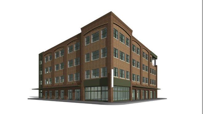 Quint Studer's latest development downtown will be a four-story mix of office, retail and restaurant space. Final plans for the new 56,000 square-foot building will go before the Architectural Review Board next week.