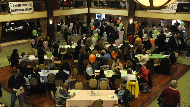 Job seekers attend the Camden County Job Fair in Collingswood.