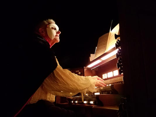 Tom Taylor is church organist and Phantom of the Opera