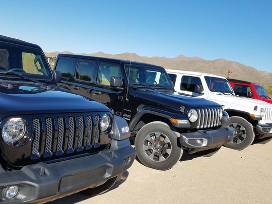 For 2018 Jeep not only has more versions of its iconic Wrangler off-road warrior than ever - it has the most model on offer with Wrangler, Renegade, Compass, Cherokee, and Grand Cherokee. In the wings: A Wagoneer, Grand Wagoneer, and Wrangler pickup.