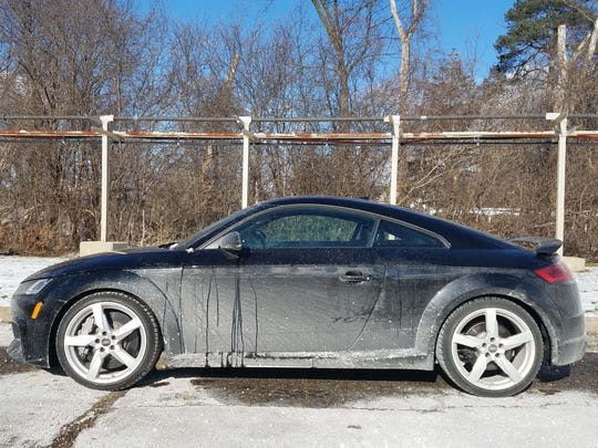 The Audi TT RS's coupe profile comes with an added