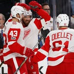 Detroit Red Wings make first trip to Vegas memorable with 6-3 victory