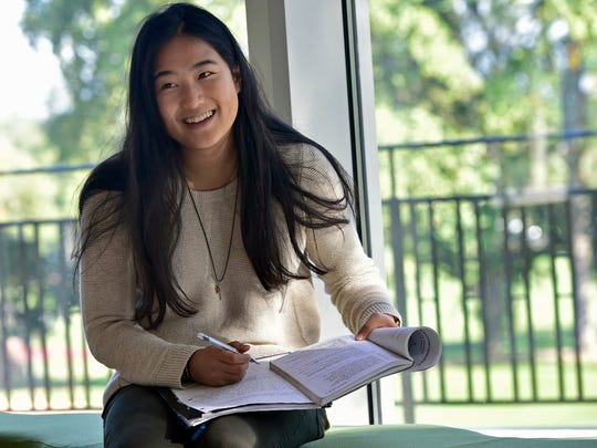 Mia Wang, is one of a few international students who studies at Mercersburg Academy. Wang was photographed at Simon Student Center on Wednesday, October 12, 2016.