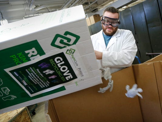 LAF Purdue recycles lab gloves