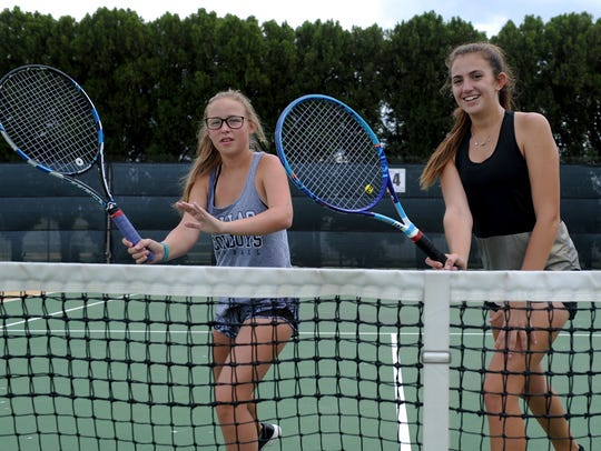 Rider's Maddie Rowe and Casie Curry