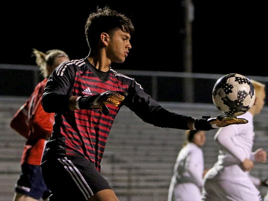 Wichita Falls High School goalkeeper Israel Gonzalez