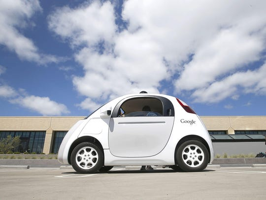Google's new self-driving prototype car is presented