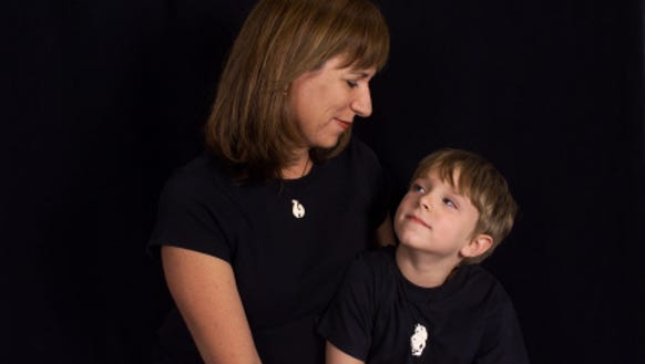 Karina Bland and her son, Sawyer, age 5.
