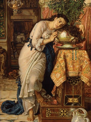 "William Holman Hunt's ""Isabella and the Pot of Basil"""