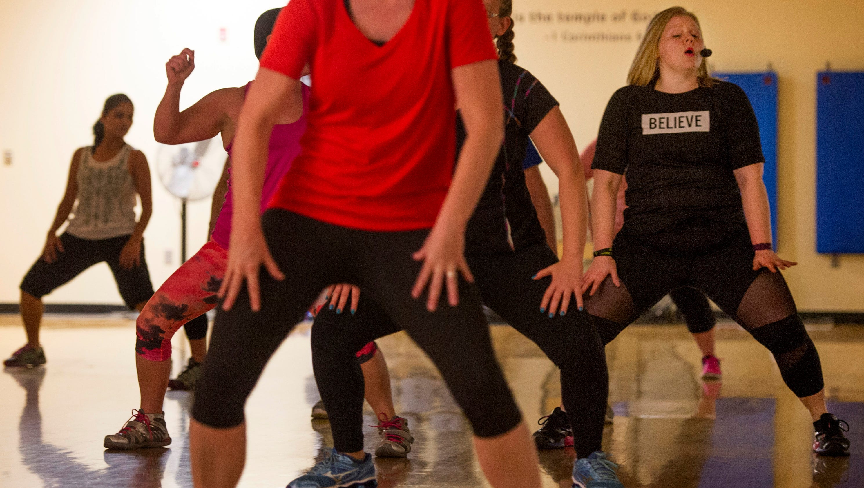 The real people of evansville woman finds her place in for Mirror zumba