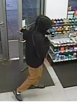 The Sheboygan Police Department is asking for the public's assistance in identifying the suspect in an armed gas station robbery.