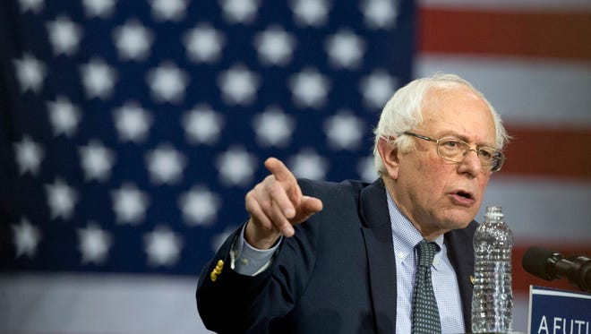 Sen. Bernie Sanders, I-Vt. speaks during a Democratic presidential campaign rally in Chicago on Feb. 25, 2016.