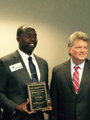 JPD's Sgt. Derrick Jordan was honored Tuesday by the Attorney General's office for his work with violent crime victims.