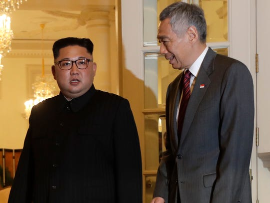North Korean leader Kim Jong Un meets with Singapore's
