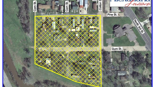 The Gum Street area of Alexandria, shown in the yellow-shaded area on the map, is under a water boil advisory.