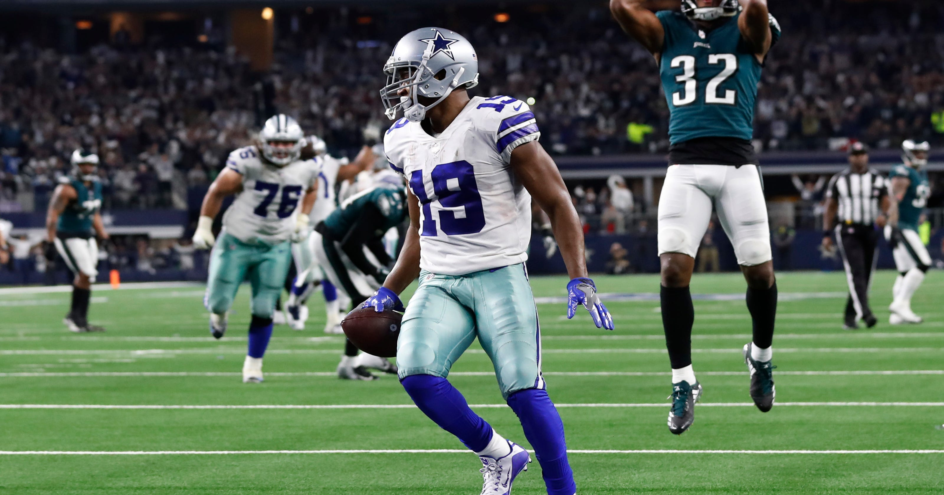 The Latest  Cowboys stretch East lead with OT win vs. Eagles dd0fd402e