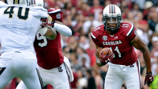 South Carolina's Pharoh Cooper and the Gamecocks travel to face Missouri on Saturday.