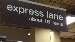 "This express lane with ""about"" added is going to become"
