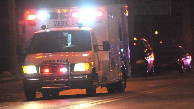 An ambulance makes an emergency run.