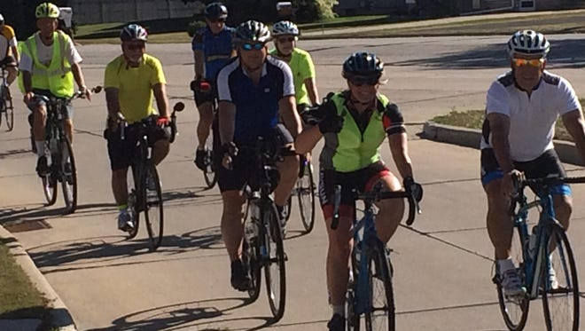 Approximately 20 bicyclists took to the streets of Manitowoc for the inaugural Share the Road Awareness Ride.