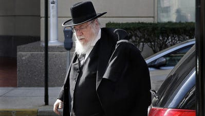 Rabbi Mendel Epstein of Lakewood was sentenced to 10 years in federal prison Dec. 15, 2015 after being convicted for his role in a coerced divorce kidnapping case.