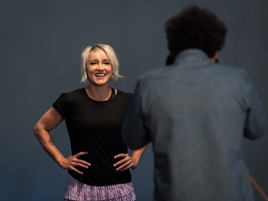 Bethanie Mattek-Sands of the United States at the WTA Photo Shoot ahead of the 2018 BNP Paribas Open WTA Premier Mandatory tennis tournament