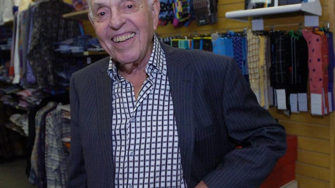 Soon to be 90 years old Phil Elkus at his son's store The Shirt Box.