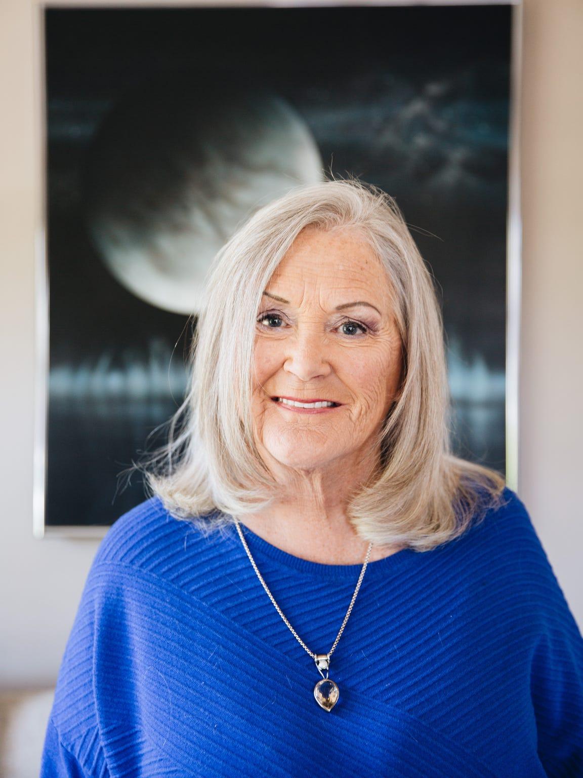Astrologer Sherryl Nova in her home
