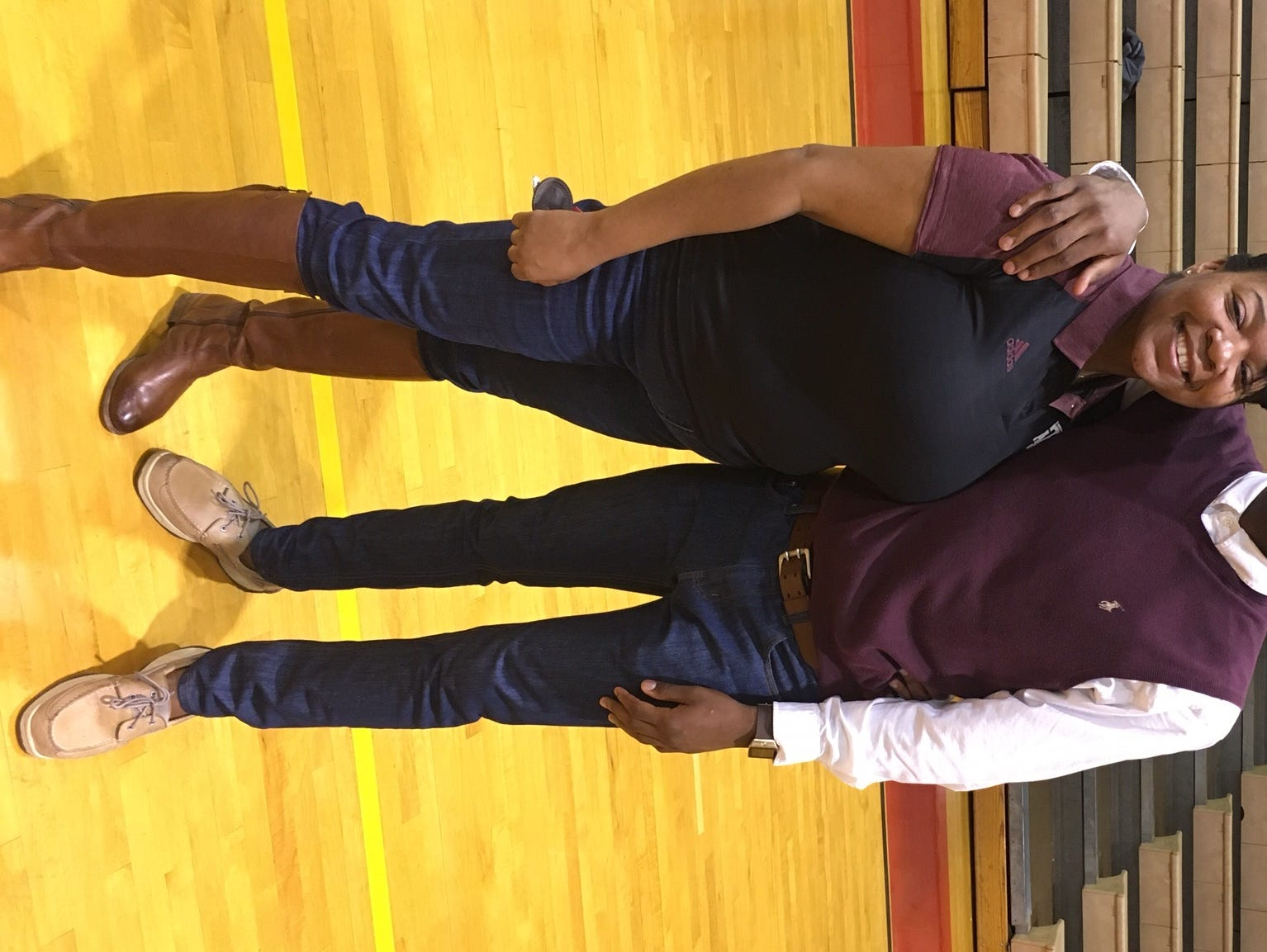Plain Dealing's Keldrick Carper, pictured with his mother Tabitha Carper, signed with Texas A&M Monday at the school.