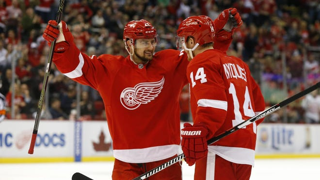 For the Red Wings to make a long run in the postseason, they need forwards Gustav Nyquist, left, and Tomas Tatar to step up their performances.