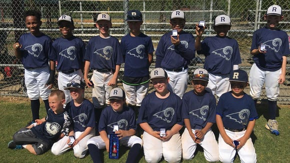 The Roberson Rambers 9U baseball team.