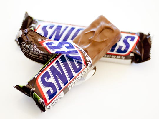 Snickers is substantial enough to occupy a level of