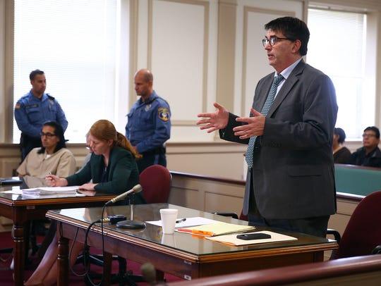 Assistant Prosecutor John McNamara, Jr. makes an argument